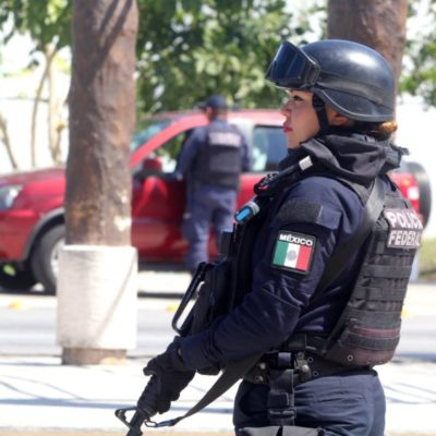 Se intensifica la presencia de la Policía Federal en Cancún; 917 elementos se suman a labores de vigilancia