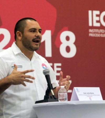 Issac Janix afirma que está listo para la recta final de la campaña electoral y arremete contra Mara Lezama