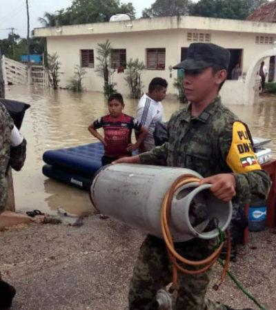 Sin energía eléctrica habitantes de Chumpón; autoridades activaron el PLAN DNIII y ya se encuentran ayudando a los afectados