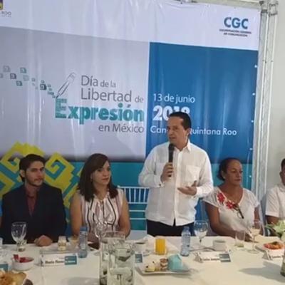 En el Día de la Libertad de Expresión, Carlos Joaquín pide un minuto de silencio por los periodistas asesinados en México