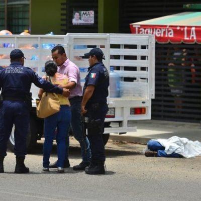 Se enfrentan dos sujetos a balazos en la calle; ambos perecen