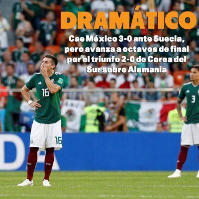 RUSIA 2018 | EL DRAMÁTICO AVANCE A OCTAVOS: Tras caer 3-0 ante Suecia, México estuvo a punto de la eliminación pese a tener 6 puntos, pero llegaron los coreanos y echaron a Alemania del Mundial