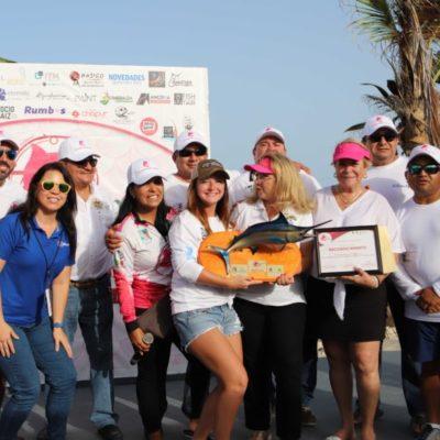 """Realizan la segunda edición del Torneo Internacional de Pesca Deportiva Femenil """"La Diosa de Mar 2018"""", en Puerto Morelos"""