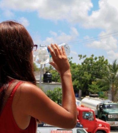 Autoridades de Puerto Morelos piden a la ciudadanía tomar medidas preventivas para evitar enfermedades y golpes de calor, ante declaratoria de emergencia para QR por altas temperaturas
