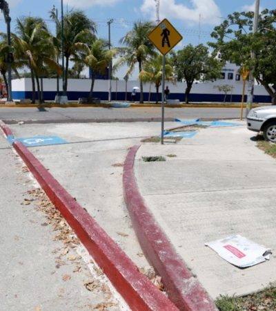 Continúan trabajos de implementación de pares viales en Cancún