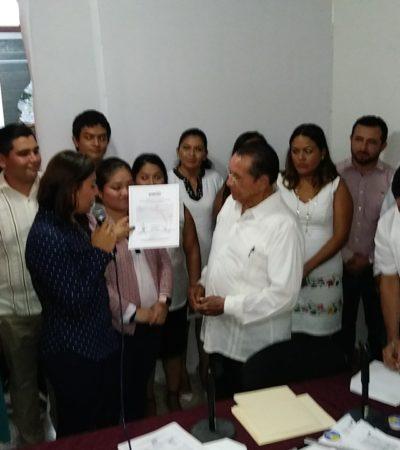 ARRASÓ MORENA EN LA CAPITAL: Recibe Hernán Pastrana constancia de mayoría como presidente municipal electo de OPB