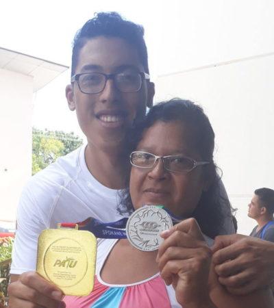 """""""Ya me veo en Tokio"""": Carlos Sansores; """"la verdad pude haber dado más y estuve cerca del oro"""", dice el cancunense ganador de plata en Centroamericanos"""
