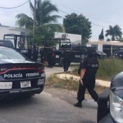 Policía Federal captura a presuntos sicarios en SM 502; los detenidos salían de su domicilio con armas largas