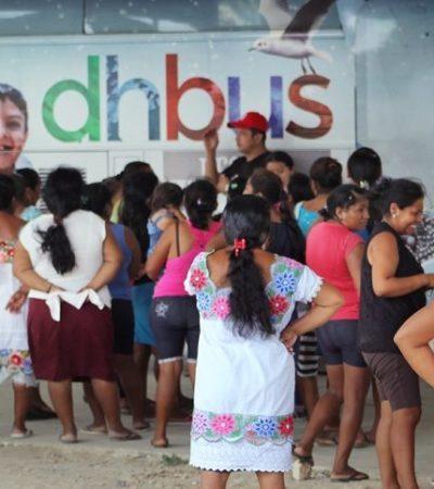 Integrantes del proyecto DH Bus llevan víveres a familias afectadas de Chumpón; con actividades lúdicas buscan contribuir a la recuperación de la comunidad
