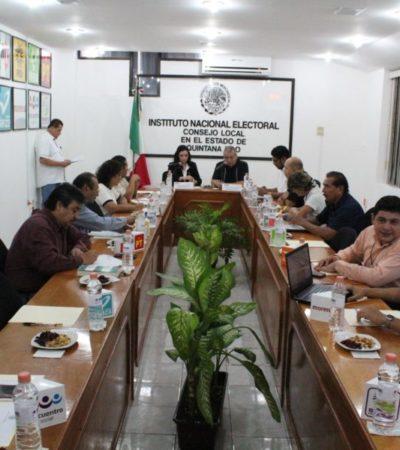 Concluyen sesiones permanentes del INE y el Ieqroo al recibir todos los paquetes electorales; el 8 de julio se entregarán las constancias a los candidatos electos