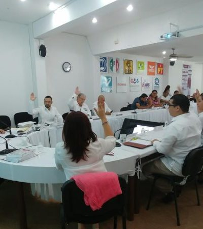Inician proceso sancionador por irregularidades en el cómputo de la elección en Solidaridad; acuerda el Ieqroo tomar medidas extraordinarias preventivas de vigilancia en el conteo del próximo domingo