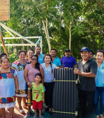Entrega Alcaldesa fardos a las familias afectadas por la tormenta tropical en comunidades de la Zona Maya de Tulum