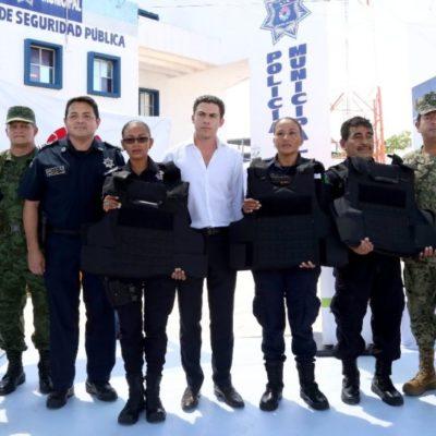 Afirma Remberto Estrada que una de las prioridades de su gobierno es reforzar las capacidades institucionales de la Policía Municipal
