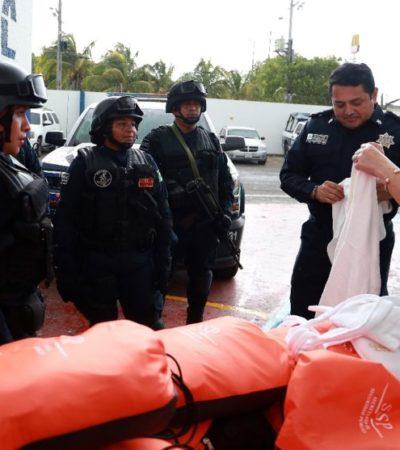 La Secretaría de Seguridad Pública de BJ, recibió 70 kits con materiales de primeros auxilios para atender a mujeres víctimas de violencia