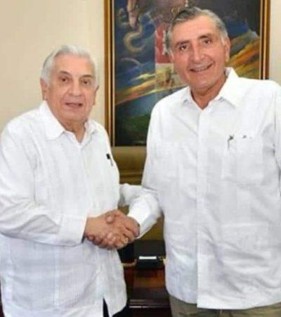 Se reune gobernador perredista de Tabasco con virtual ganador de Morena a la gubernatura