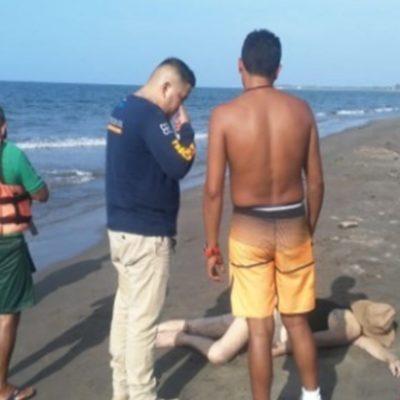 Muere turista polaco ahogado en playa Palmira de Alvarado, Veracruz