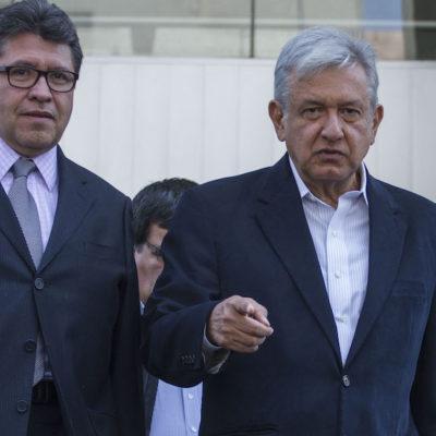 Pactó AMLO con Monreal la coordinación de la bancada de Morena en el Senado, incluyendo PES y PT