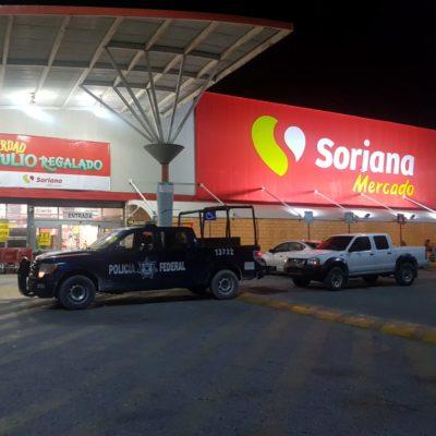 Asaltan supermercado en la avenida Talleres de Cancún