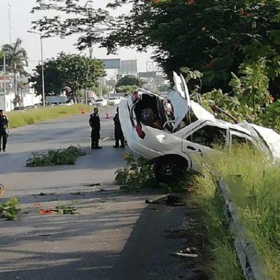 CÁMARA VIAL GRABA LOS HECHOS: Mueren automovilista y ciclista que protagonizaron accidente en Mérida