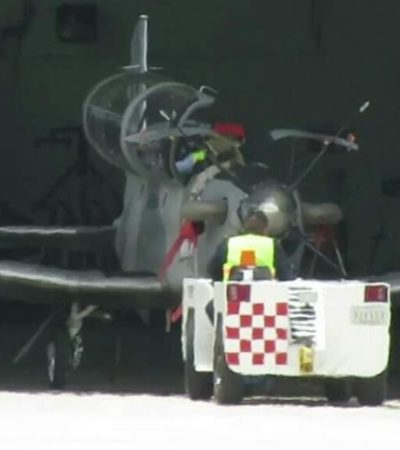 Alarma en Chetumal por falla en avión de la Armada