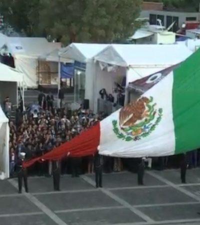 Inicia jornada electoral con ceremonia de izamiento de Bandera