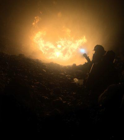 Presuntos 'huachicoleros' provocan incendio en ducto de Pemex en la carretera a Progreso; 1 herido de gravedad y 3 detenidos