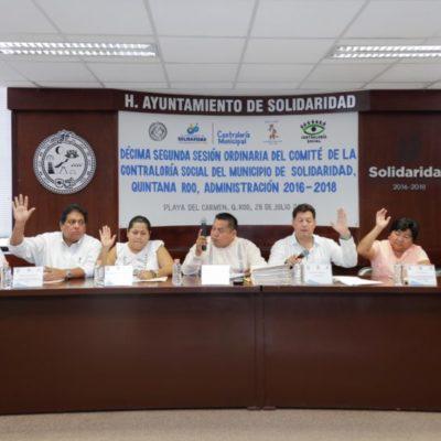 Verifican ciudadanos 100% de obras públicas en Solidaridad