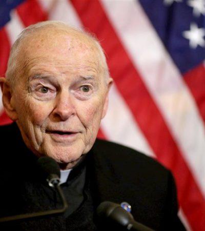 Retira el Papa a principal cardenal de Estados Unidos tras acusaciones de abuso sexual