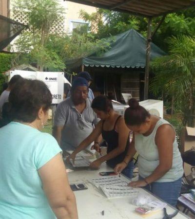 Por no tener viáticos, funcionarios de casilla estuvieron a punto de cerrar la casilla 601 de Cancún