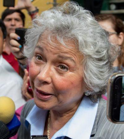"""""""PODEMOS BUSCAR UN CAMINO DE PACIFICACIÓN A TRAVÉS DE ESTO"""": Olga Sánchez Cordero a favor de despenalizar la mariguana y la amapola"""