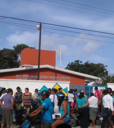 Pasa una hora y no abren algunas casillas en Cozumel