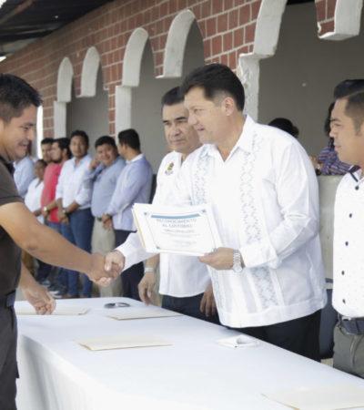 Gobierno de Solidaridad reconoce labor de custodios del Centro de Retención Municipal