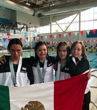 Gana quintanarroense medalla de plata en Campeonato Mundial de Natación de Síndrome de Down