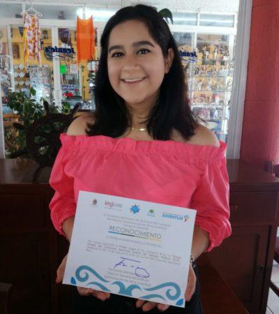 Repite joven cozumeleña en concurso nacional de debate político
