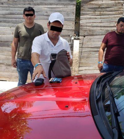Detienen a supuesto operador de Ludivina Menchaca en Puerto Morelos