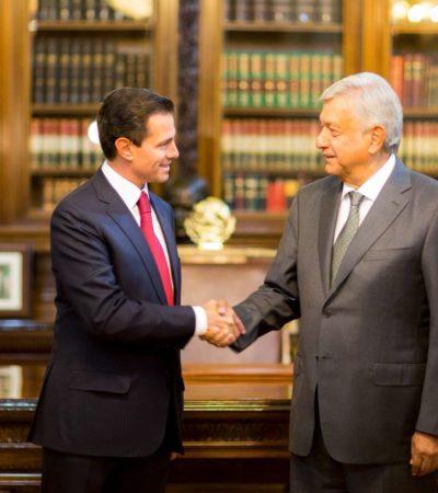 INICIA LA TRANSICIÓN: Se reúne AMLO con Peña Nieto en Palacio Nacional para comenzar con el traspaso de poderes en México