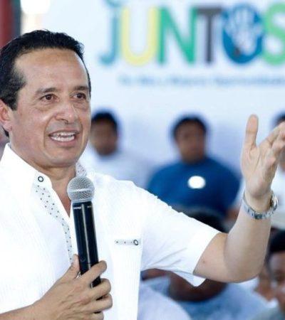 Carlos Joaquín se coordinará con la federación para concretar el proyecto del Tren Maya