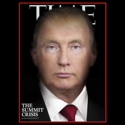 Fusiona revista Time a Trump y Putin en nueva portada
