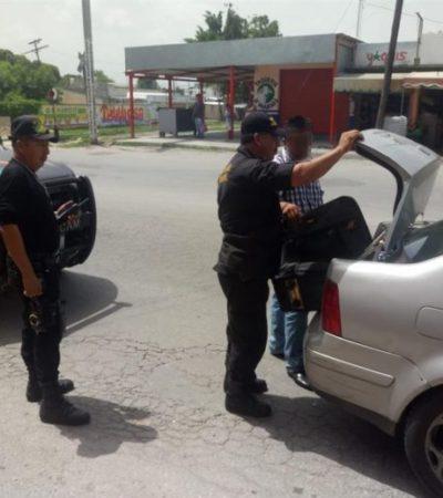 Detienen a dos sujetos que pagaban con billetes falsos en comercios de Campeche