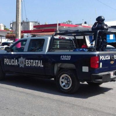 Policías estatales suplen a uniformados que siguen en paro laboral desde hace una semana en Felipe Carrillo Puerto