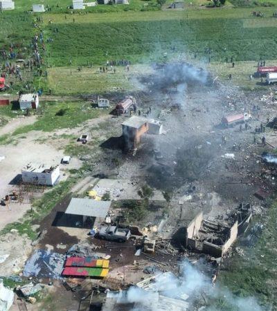 Cobran 19 vidas explosiones en Tultepec, incluyendo policías y bomberos que auxiliaban a civiles