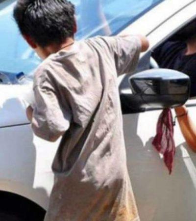 Rescatan a ocho niños chiapanecos que eran explotados 'laboralmente' en calles de Tepic, Nayarit