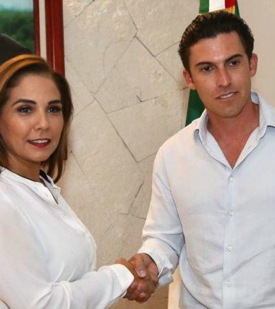 INICIA EL PROCESO DE CAMBIO DE MANDO EN CANCÚN: Le asegura Remberto Estrada a Mara Lezama que recibirá una adminstración en orden