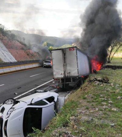 Día de choques múltiples en carreteras mexicanas; suman cuatro accidentes