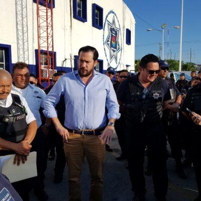 Acuerdan pago de bono de Fortaseg en Benito Juárez y policías deponen inconformidad