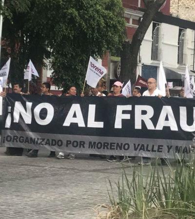Marchan miles de personas en repudio al 'fraude' y la violencia electoral en Puebla