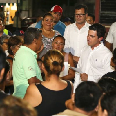 Supervisa Alcalde instalación de 703 luminarias LED y entrega más de 21 mil m2 de pavimentación en la SM 95 de Cancún