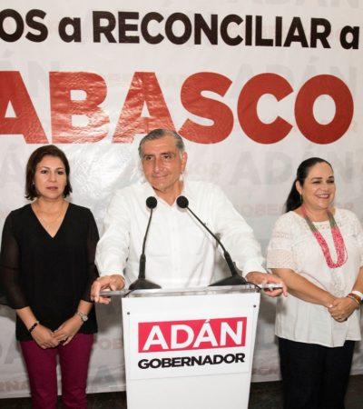 ELECCIÓN TABASCO: El morenista Adán Augusto López llama a la reconciliación y reconstrucción del estado