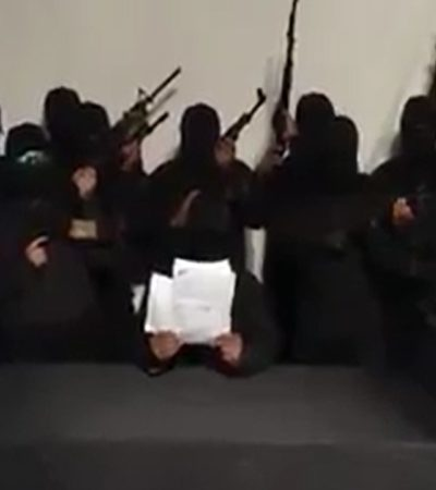 Difunden video de grupo armado que ofrece acabar con bandas del crimen organizado en Tabasco