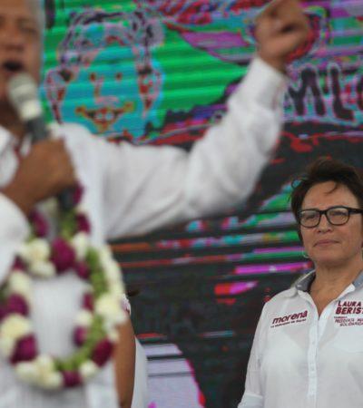 En la víspera del conteo definitivo de votos en Solidaridad, respalda Yeidckol Polenvsky a Laura Beristaín
